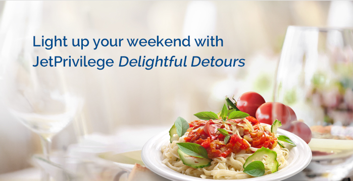 Light up your weekend with JetPrivilege Delightful Detours